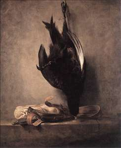 Still-Life with Dead Pheasant and Hunting Bag