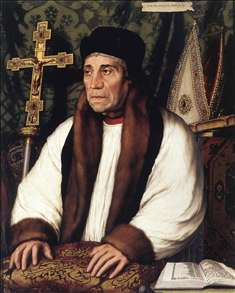 Portrait of William Warham, Archbishop of Canterbury