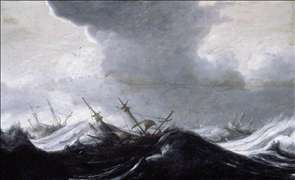 Dutch Shipping in Heavy Seas