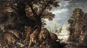 Landscape with Wild Animals