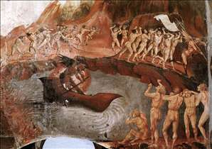 Famous Paintings of Hell http://www.lib-art.com/artgallery/16752-the-damned-being-plunged-into-hell-luca-signorelli.html