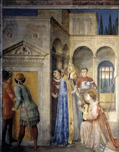 St Sixtus Entrusts the Church Treasures to Lawrence