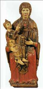 Enthroned Madonna and Child
