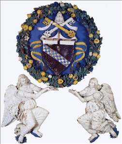 Coat-of Arms Supported by Two Angels
