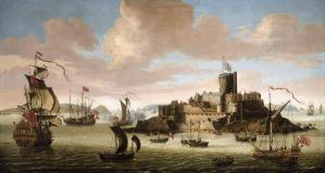 An English Ship and other Shipping off Castle Cornet, Guernsey