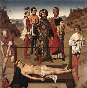 Martyrdom of St Erasmus (central panel)
