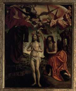 St Wolfgang Altarpiece: Baptism of Christ