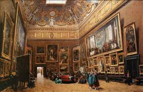 View of the Grand Salon Carré in the Louvre