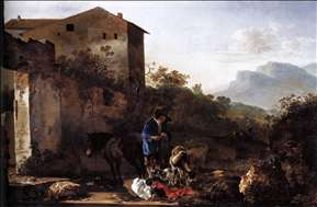 Landscape with a Goatherd