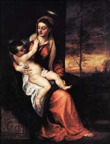 Madonna and Child in an Evening Landscape