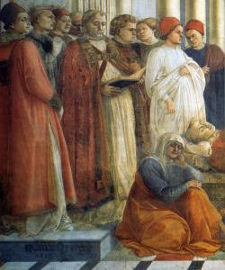 The Funeral of St Stephen (detail)