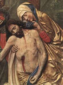 High Altar of St Mary (detail of the Lamentation)