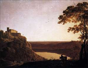 View of the Lake of Nemi