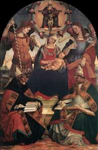 The Trinity, the Virgin and Two Saints