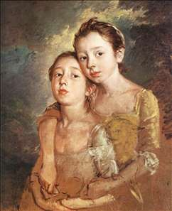 The Artist's Daughters with a Cat
