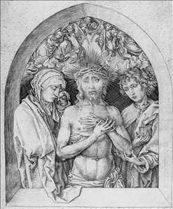 The Man of Sorrows with the Virgin Mary and St John the Evangelist