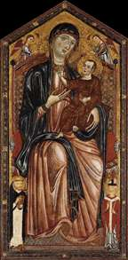 Virgin and Child Enthroned with St Dominic, St Martin and Two Angels