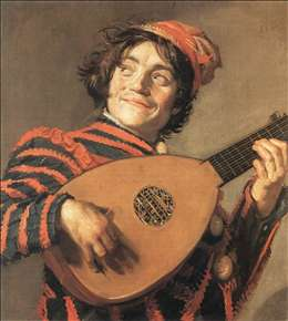 Buffoon Playing a Lute