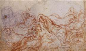 Study for Deluge (portion of sheet)