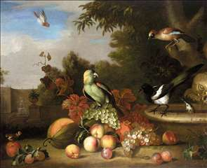 Still-Life of Fruit and Birds