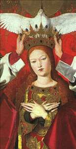 The Coronation of the Virgin, detail: the Virgin