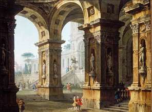 Capriccio with Elegant Figures