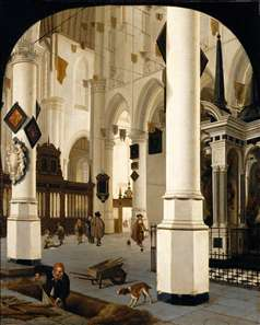 The Interior of The Nieuwe Kerk In Delft with the Tomb of William the Silent
