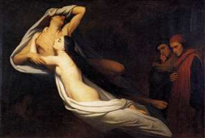 The Ghosts of Paolo and Francesca Appear to Dante and Virgil