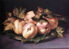 Still-life with Peaches and Fig-leaves