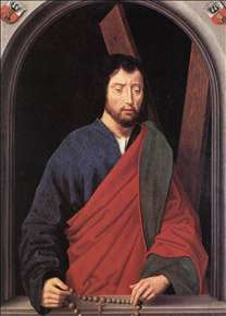 St Andrew (left wing of a diptych, reverse)