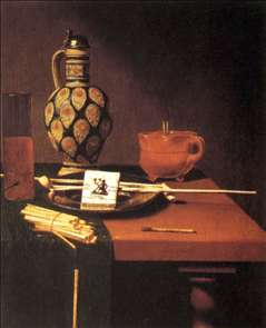 Still-Life with Porcelain Vase and Smoking Tools
