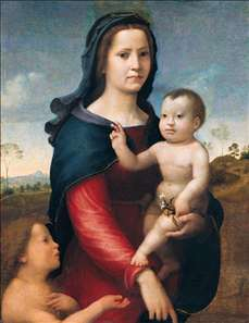 The Madonna and Child with the Infant St John the Baptist