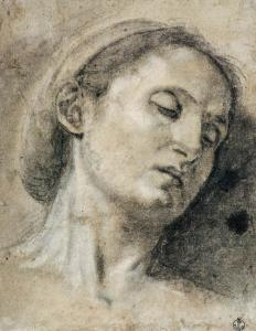 Head of a Woman with Eyes Closed