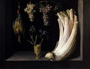 Still Life with Cardoon, Francolin, Grapes and Irises