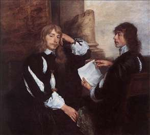 Thomas Killigrew and (?) William, Lord Croft
