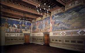 View of the frescoes