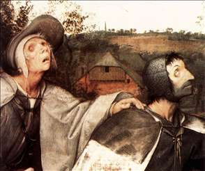 The Parable of the Blind Leading the Blind (detail)