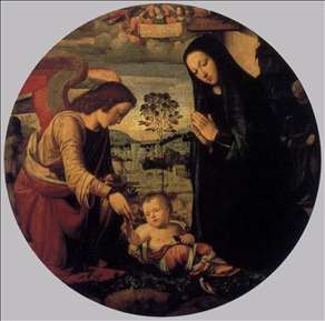Adoration of the Child with Angel