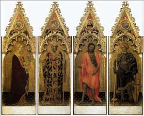 Four Saints of the Poliptych Quaratesi