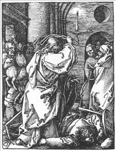 Small Passion: 7. Christ Driving the Merchants from the Temple