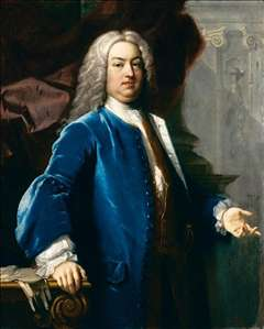 Portrait of a Gentlemen in Blue Jacket