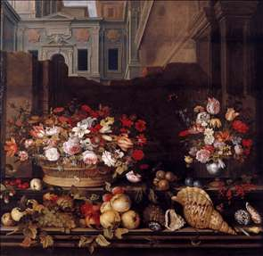 Still-Life with Flowers, Fruit, and Shells