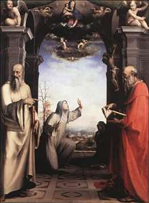 Stigmatization of St Catherine of Siena