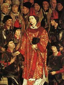 Altarpiece of Saint Vincent, detail of the