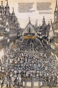 Investiture of the Elector of Saxony in the Weinmarkt, Augsburg
