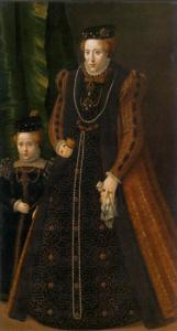 Archduchess Maria with Her Elder Daughter Maria Eleonore