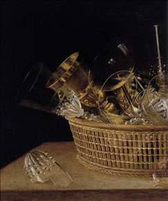 Still-Life of Glasses in a Basket