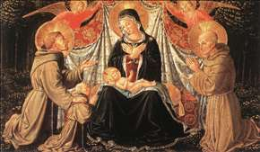 Madonna and Child with Sts Francis and Bernardine, and Fra Jacopo