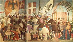 Battle between Heraclius and Chosroes (right view)