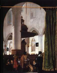 A Sermon in the Oude Kerk, Delft